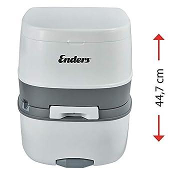 Enders WC Chimique Portable - Kit de démarrage Blue 5,0 Supreme avec Produit additif et Papier hygiénique - Toilette Chimique