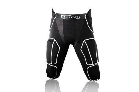 Full Force American Football Herren Hose 7 Pocket mit 7 eingenähten Pads, schwarz, Gr. 3XL