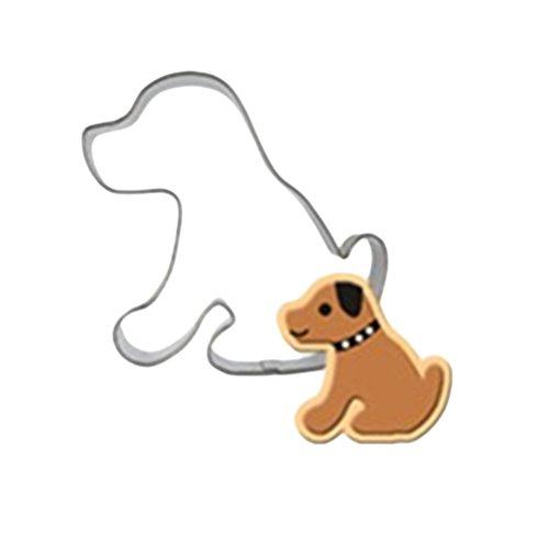 UPKOCH Edelstahl Ausstecher Hund geformte Formen Tier Keks Cutter Schokoladenformen Cupcake Dessert Backformen