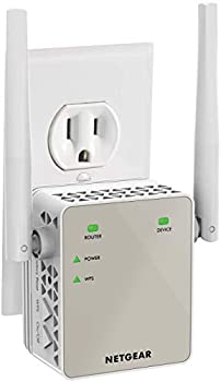 NETGEAR Wi-Fi Range Extender EX6120 - Coverage Up to 1500 Sq Ft and 25 Devices with AC1200 Dual Band Wireless Signal Booster & Repeater  Up to 1200Mbps Speed  and Compact Wall Plug Design