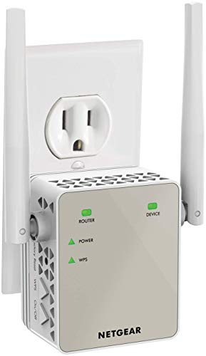 NETGEAR Wi-Fi Range Extender EX6120 - Coverage Up to 1200 Sq Ft and 20 Devices with AC1200 Dual Band Wireless Signal Booster & Repeater (Up to 1200Mbps Speed), and Compact Wall Plug Design