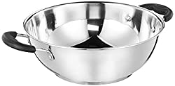 Amazon Brand - Solimo Stainless Steel Induction Bottom Kadhai