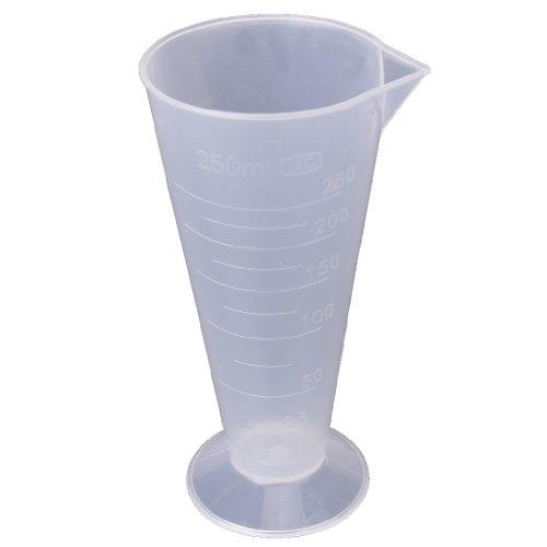 #N/a Recipiente de Cilindro de Taza de Vaso Volumétrico Graduado Plástico de Laboratorio de Cocina - 9