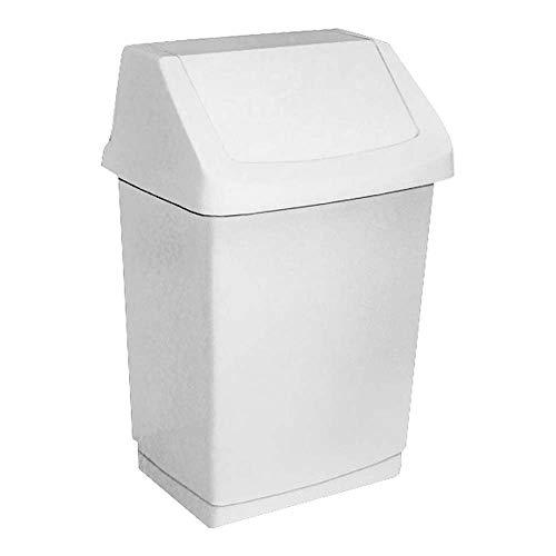 """CURVER Mülleimer """"CLICK-IT"""" 25L, Plastik, Weiß, 32.5 x 26.5 x 50.5 cm"""