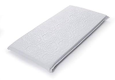 Big Oshi Waterproof Baby Bassinet/Cradle Mattress, White, 15 x 30 x 2 Inch
