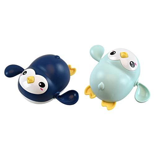 lahomia 2Pcs Lovely Wind Up Swimming Animal Penguin Kids Toddler Bañera Piscinas Juguetes
