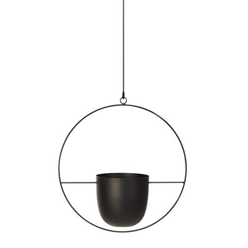 Pureday Blumentopf zum Hängen - Moderne Blumenampel - Übertopf - Metall - Schwarz