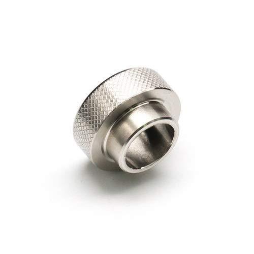 ドリップチップ 金属 ダイヤ柄 刻み 彫 メタリック 810 電子タバコ VAPE用 ベイプ アトマイザー オリジナルファイバークロス付 (クロスなしシルバー)
