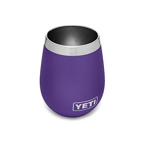 YETI Rambler 10 oz Wine Tumbler, Vacuum Insulated, Stainless Steel, 2 Pack, Peak Purple
