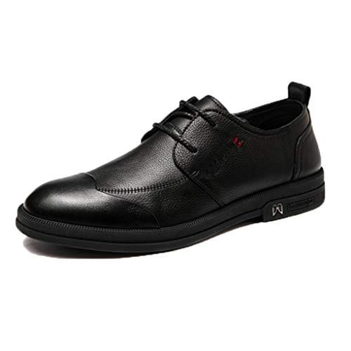 LangfengEU Herrenschuhe aus weichem Leder Low Top Frühling Sommer Schnürschuhe Business Work Walking Schuhe in atmungsaktiver, Trendiger Freizeitkleidung