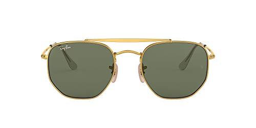 Ray-Ban 0Rb3648, Gafas de Sol Unisex Adulto, Dorado (Green Classic), 5
