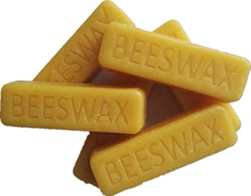Beesworks (6) 1oz Yellow Beeswax Bars - Package of (6) 1oz Bars (6oz) - Cosmetic Grade.