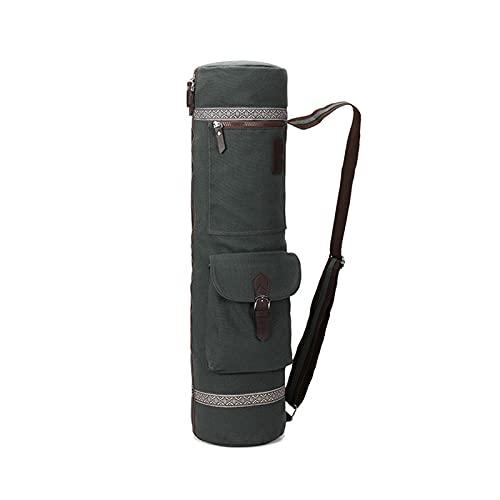 DHDHWL Bolsa para esterilla de yoga, plegable, con cremallera completa, para deportes, yoga, bolsa de transporte, tela Oxford resistente al agua, con 2 bolsas de carga
