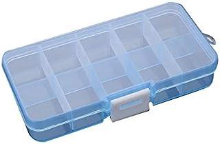 10 Grid Jewelry Storage Box Tool Box Plastic Storage Box Dust-Proof Box Portable Box Fashion Box Small Sealed Storage Box