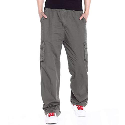 Loeay Pantalones Casuales Elegantes para Hombre Pantalones Cargo de Verano Pantalones Holgados en General Verde Militar Pantalones tácticos Sueltos Pantalones Largos Tallas Grandes