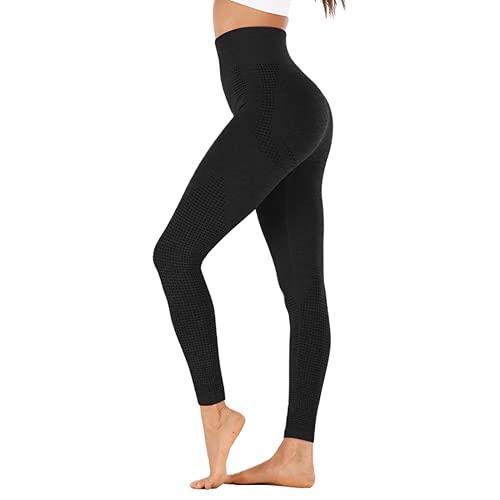 QTJY Leggings sin Costuras Ejercicio Push-up Damas Fitness Correr Pantalones de Yoga de Cintura Alta Pantalones Deportivos de Entrenamiento en Cuclillas A L