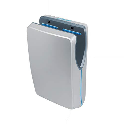 JOFEL - Secador de Manos Tifón, Color Plata, Automático, Alta Velocidad, Uso Industrial, Línea Premium