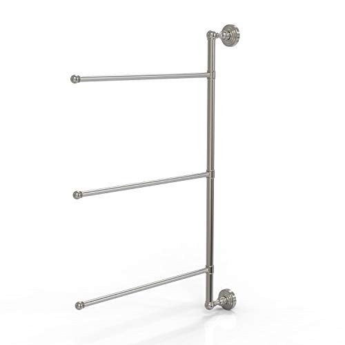 Allied Brass WP-27/3/16/28 Waverly Place Collection 3 Swing Arm 28 Inch Vertical Towel Bar, 28