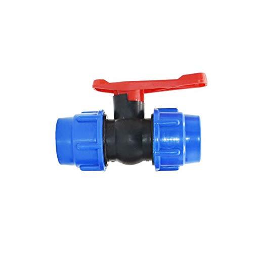 Valvola Rapida per Tubi d'Acqua in Plastica 20/25/32/40 / 50 Mm, Tubo PE A 3 Vie A 3 Vie Valvole A Sfera in PVC Accessori (Size : 32MM)