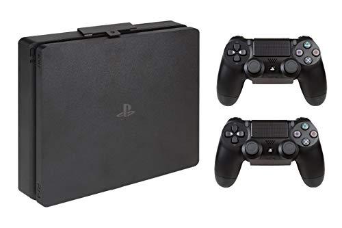 Hooked - Soporte pared PS4 SLIM + Soportes pared mandos PS4/XBOX (2 unidades)