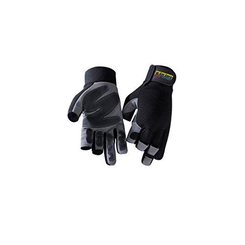 Handschuh Mechanik 3-Finger Schwarz/Grau 10