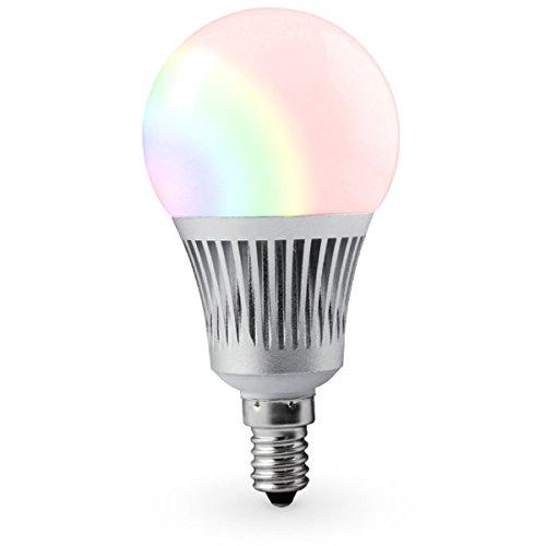LIGHTEU®, WLAN LED Lampe original MILIGHT 5W E14 Color RGB plus WarmWeiß und kaltWeiß,dimmbar,Farbwechsel Glühbirne ohne Fernbedienung, RGBCCT, fut013