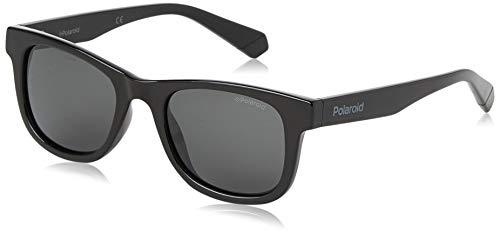 Polaroid KIDS PLD 8009/N/NEW gafas de sol, NEGRO, 44 Unisex niños