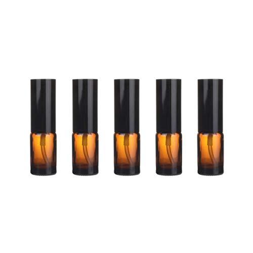 Yardwe Flacon Pulvérisateur en Verre Pack de 5 Contenants Rechargeables en Verre Ambre Flacon Vide pour Les Huiles Essentielles Parfum Produits de Nettoyage Aromathérapie (Presse 10 Ml)