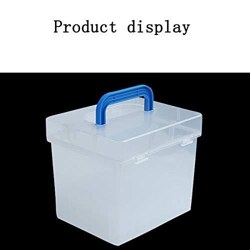TOOGOO Transparente 80-Slots Tragbare Wasserdichte Marker Stifte Aufbewahrungs Koffer Für Mark Büro Tisch Organizer
