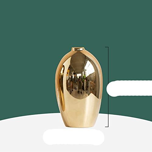 Sala de Estar nórdica Mueble de TV gabinete de Vino decoración Arte Suave cerámica galvanoplastia jarrón de Plata-H