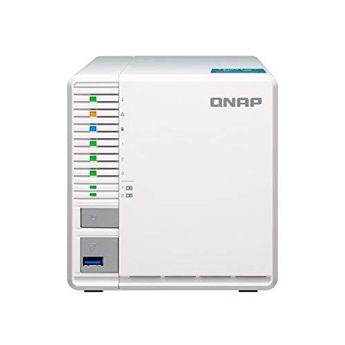 QNAP TS-351-2G 3-Bay RAID-5 NAS-System, zwei M.2 SSD Steckplätze, weiß