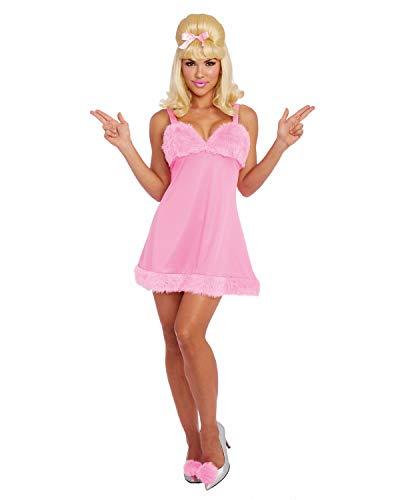 Dreamgirl Women's Femme Fatal, Pink, Large