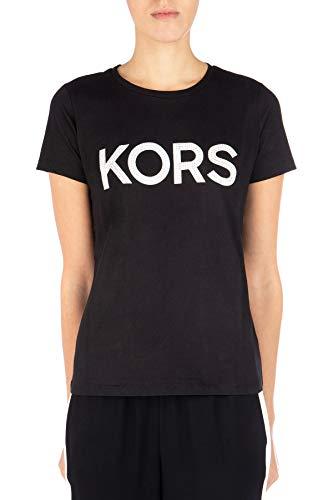 T-shirt MICHAEL KORS Donna MICHAEL KORS cod.MH85M2Y97J Nero/argento SIZE:S