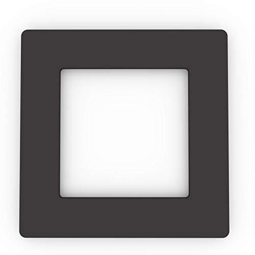 Einzel-Lichtschalter, Steckdose, farbiges Acryl, Abdeckung, große Auswahl an Farben schwarz