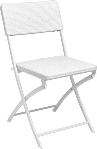 PEBSHOP Chair in Steel-PVC Rattan Effect L. 54 x D. 44.5 x H. 81.5 cm.