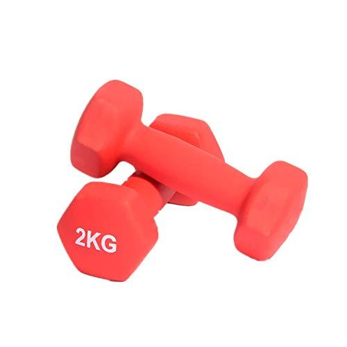 JINBAO EIN Paar tragbare Hanteln, leichtes Fitnesszubehör für Frauen, Yoga-Übungshilfsmittel, rot, 5,5 * 2 * 2 Zoll, geeignet für Zuhause/Fitnessstudio