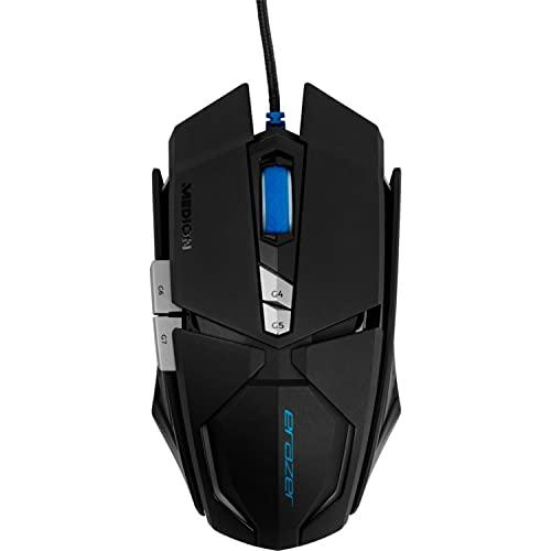 MEDION ERAZER X81044 Gaming Maus, Laser Sensor, ergonomisch, Auflösung: 1000/2000/4000/6000/8000 DPI, OMRON, Beleuchtung, schwarz