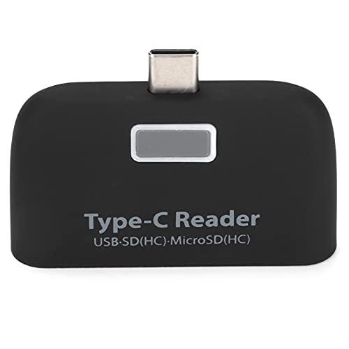 Lector de Tarjetas USB 2.0, Lector de Tarjetas OTG de Carga rápida PD para Unidad Flash USB Lector de Tarjetas para teléfono y Tableta