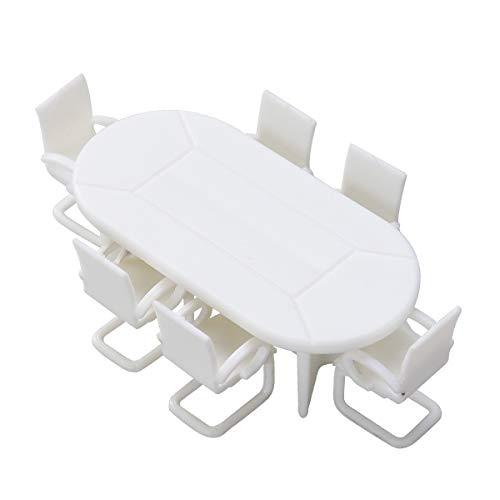Amosfun 7 stücke Puppenhaus Miniatur Möbel Miniatur Tisch Und Stühle Miniatur Fee Garten Zubehör