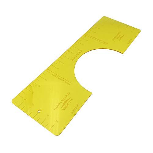 N/A/ Regla de alineación de camisetas de la guía de la regla de la camiseta guía de vinilo guía de la regla de la camiseta para la aplicación de vinilo y diseños de sublimación herramienta de centrado