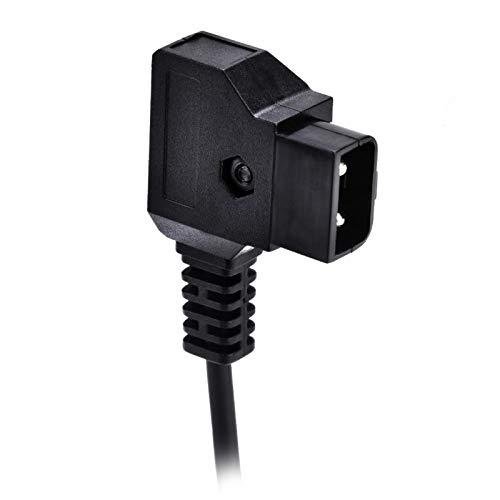 Emoshayoga Cable de alimentación D-Tap a CC Cable Adaptador Macho D-Tap Accesorio Cable Adaptador Accesorio para batería de Montaje en V Adecuado para usos fotográficos