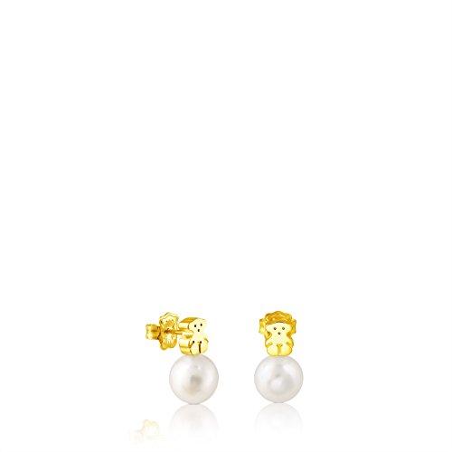 Pendientes TOUS Sweet Dolls en oro amarillo de 18 kt y perlas cultivad