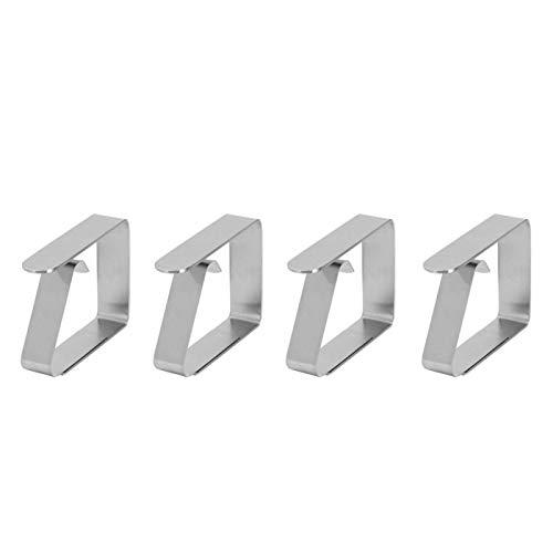 Phisscii Clip para Mantel - 4 Piezas de Mantel de Acero Inoxidable para el hogar Pinzas Antideslizantes para Mantel