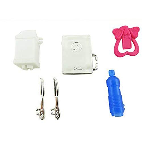 Barbie Doll Hello Dream-house #DPX21 - Replacement Accessory Bag - Includes: Tablet, Pink Heart Charger, Water Bottle and More!