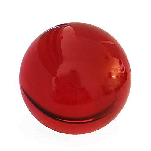 meixiang Farbige Kristall Glaskugel, Kronleuchter Spiegel Kugel Kristallkugel, Dekoration Globus 40MM /Rot