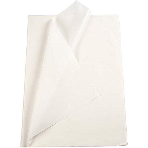 Seidenpapier weiß 20860 von Creativ Company - Transparentes Seidenpapier zum Basteln und zur Dekoration. 50 x 70 cm, 14g/qm, 25 Blatt. thumbnail