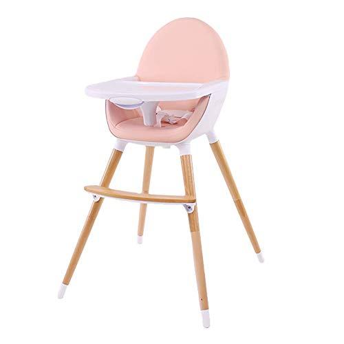 Chaises hautes Portable pour Bébé, Siège De Salle À Manger Convertible avec Plateau, Chaise Légère pour Enfant en Bas Âge - Rose