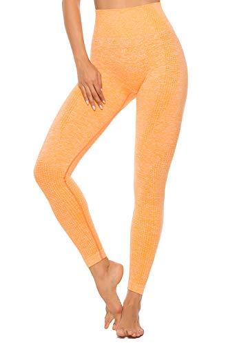 INSTINNCT Legging Sport Femme Sexy Pantalon Yoga Confortable Elastique Taille Haute Collant Basique Sans Couture Amincissant