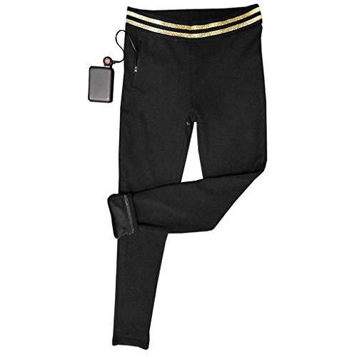 レディース電熱パンツ裏起毛六つヒーターUSB充電式急速加熱3段温度調整大きいサイズ撥水洗濯可男女兼用メンズインナーベルト付き