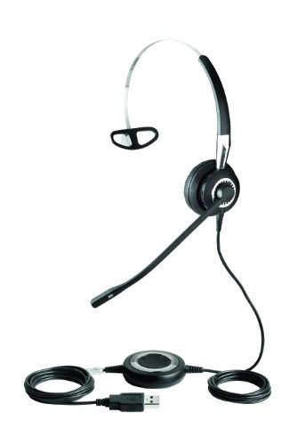 Jabra BIZ 2400 USB MS Mono Lync Optimized Corded Headset for Softphone and Mobile Phone